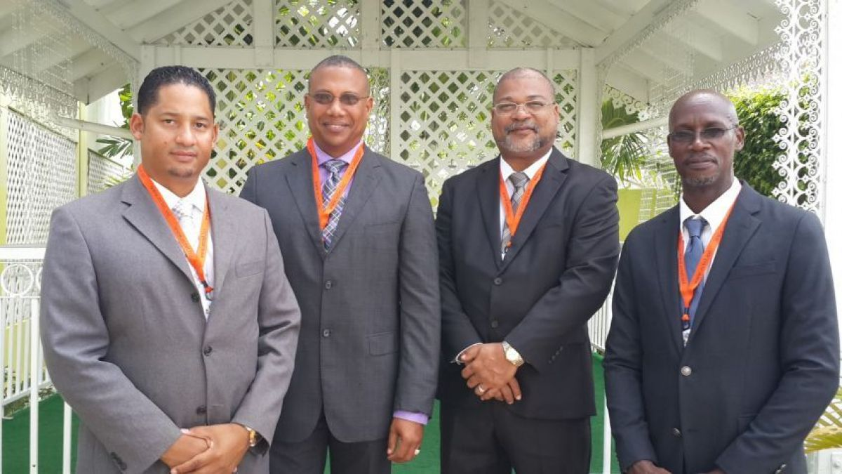 Ryan Wijngaarde, Giovanni King,Anthony Carty, (BTP-SXM), Embert Charles (ECTEL)