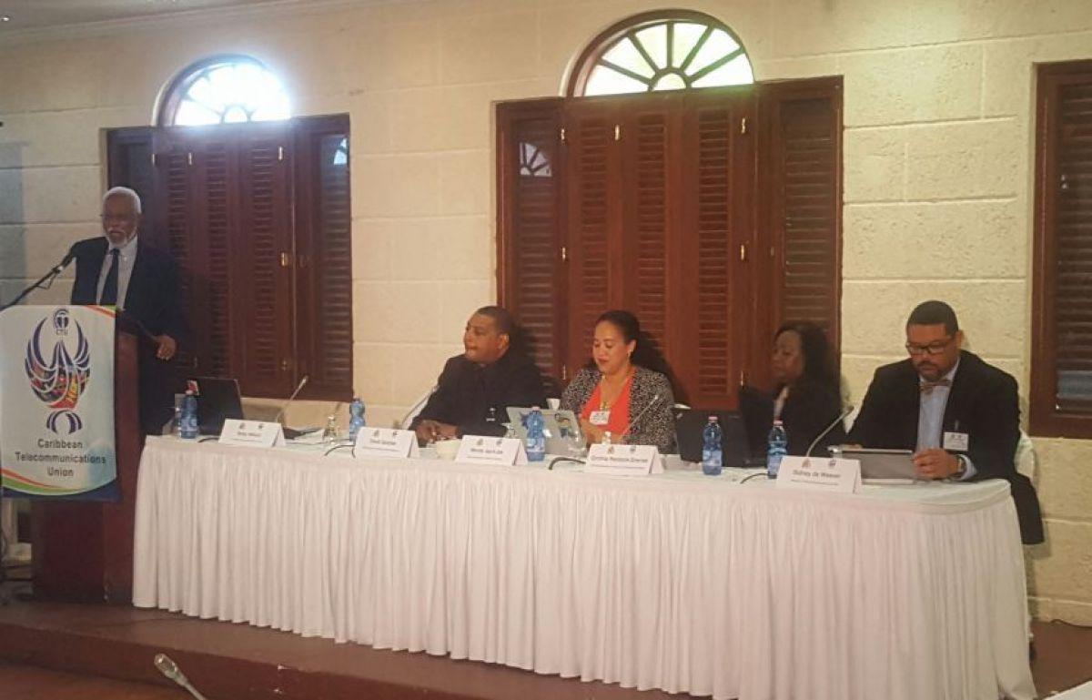 Mr. Sidney de Weever (right) panelist at CTU regulators forum